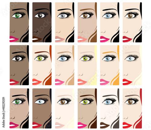 Amalgame de styles beauté