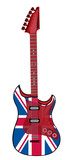 electric guitar made in British style