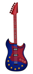electric guitar made in rock europe style