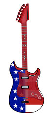 electric guitar made in rock and American style