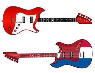 electric guitar made in french style