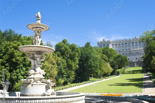 Garden in Royal Palace Madrid, Spain