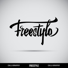Freestyle hand lettering - handmade calligraphy