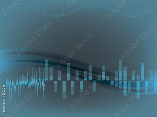 music techno background. eps10 vector illustration