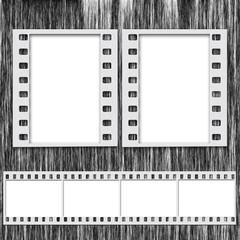 Blank Film Frames and Blank Film Strip