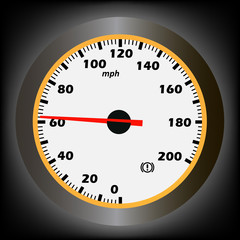 vector illustration of speedometer. 10eps