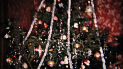 Presents Under The Christmas Tree-1958 Vintage 8mm