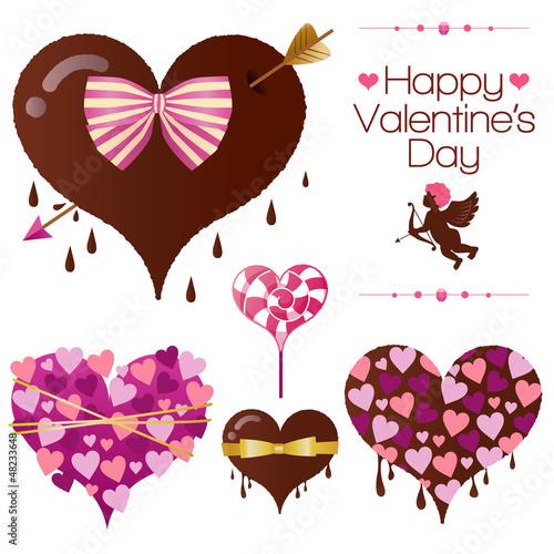 バレンタイン チョコレート キャンディ イラスト キューピッド シルエット