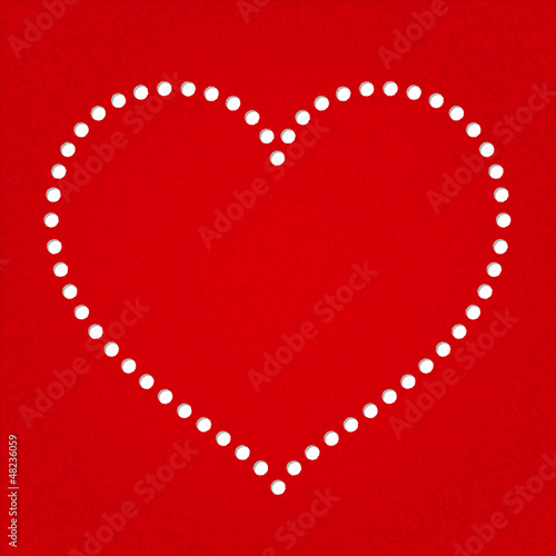 Valentine day heart greeting card template