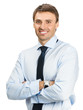 Smiling young businessman, isolated