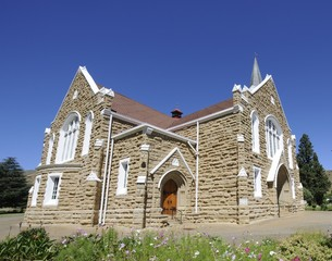 Historic sandstone church, Lady Gray, Eastern cape