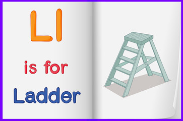 A picture of a ladder in a book