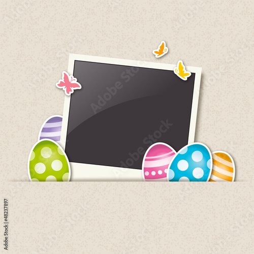 polaroid photo frame – happy easter