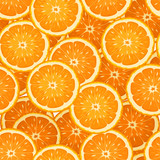 Seamless background with orange slices. Vector illustration.