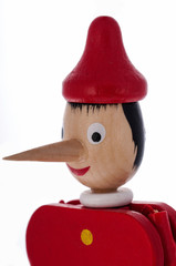 Lie. Pinocchio with a long nose.