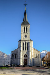 Church in French Alps, Sevrier