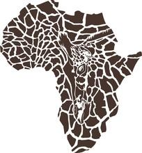 Africa in a giraffe camouflage