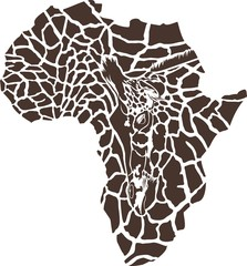 Africa in a giraffe camouflage