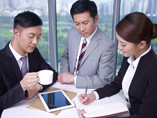 asian business people having a meeting in office