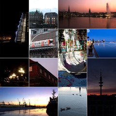 Collage der Stadt Hamburg