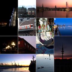 Collage der Stadt Hamburg