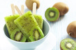 Kiwi Ice Cream Popsicle