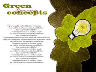 Green concept Glühbirne