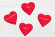 Herzen mit Wörtern