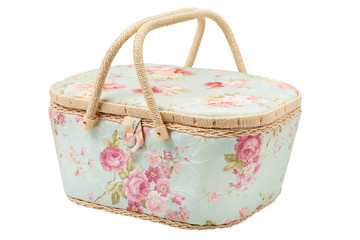 basket for storage of accessories for sewing, silk case for need