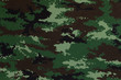 Thai army green woodland digital camouflage fabric texture backg