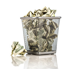 Money in a basket