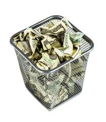 Money in a basket
