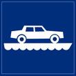 Schild blau - Autofähre