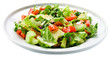 Salad from fresh vegetables, saved clipping path