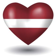 Herz mit Schatten - Lettland