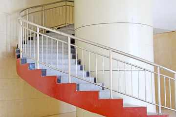 with the modern breath stair rotates in a building in Beijing