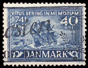 DENMARK 1941. Stamp in memory of death date of V.Bering