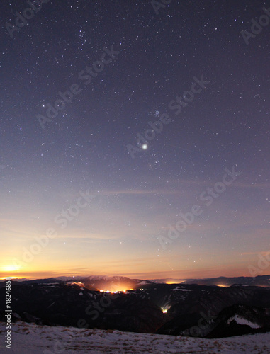 sunset sky star background light sunrise nature
