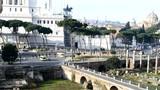 Centro storico di Roma visto dai Mercati traianei poster