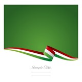 Abstract color background Hungarian flag vector