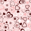 Valentine seamless pattern - flowers and hearts