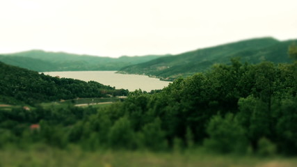 Cinematic Look Of Danube River In The Valley.
