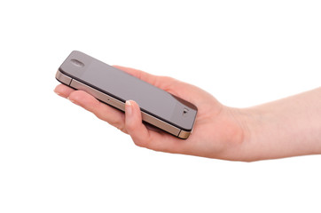 Smartphone in einer Hand