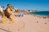 Albufeira beach in Algarve