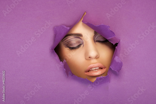 Beautiful woman with closed eyes