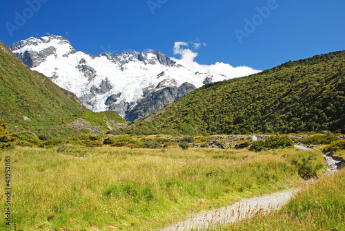 Trekking in Mt. Cook national park, New Zealand