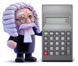 Judge stands by calculator