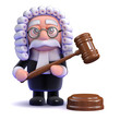 Judge strikes with his gavel