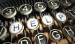 Typewriter with Help button, vintage