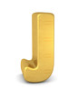 buchstabe letter J gold vertikal